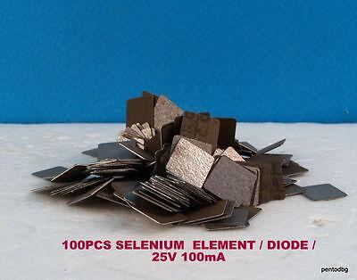 100 Pcs Selenium Diode Half Wave Rectifiers 25v 100ma  Veri Rare