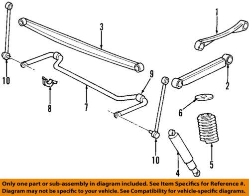 New Oem Rh Or Lh Rear Sway Stabilizer Bar Link Ford
