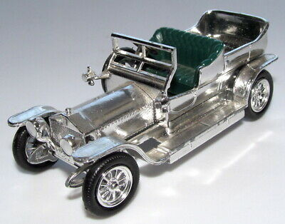 Matchbox Yesteryear Giftware 1907 No.15 Rolls-Royce Silver Ghost Silver Plated