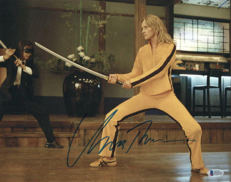 UMA THURMAN SIGNED 11X14 PHOTO KILL BILL AUTHENTIC AUTOGRAPH BECKETT COA B