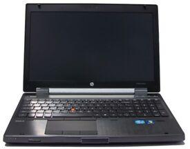 HP EliteBook 8560w Laptop Core i5-2540QM 8GB Ram 500GB Webcam Quadro --