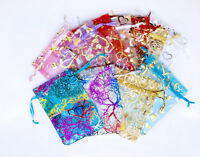 100pc Rose Heart Coralline Organza Jewelry Pouch Wedding Party Candy Gift Bags - unbranded - ebay.co.uk