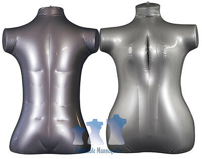 His Her Special - Inflatable Mannequin - Torso Forms Extra-large Silver