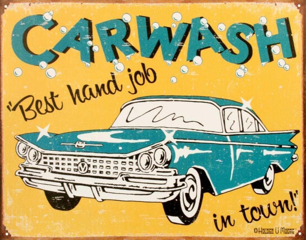 Details About Car Wash Plaque Poster Metal Signs Retro Tin Plate Pub Garage Decor