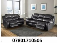 sofa lazy boy recliner sofa black real leather BRAND NEW