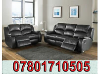 sofa lazy boy recliner sofa black real leather BRAND NEW 81021