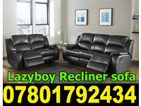 SOFA BRAND NEW RECLINER LEATHER SOFA FAST DELIVERY LAZYBOY 05352