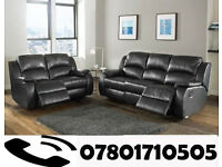 sofa lazy boy recliner sofa black real leather BRAND NEW 65