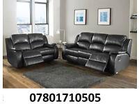 sofa lazy boy recliner sofa black real leather BRAND NEW 835