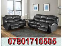 sofa lazy boy recliner sofa black real leather BRAND NEW 64