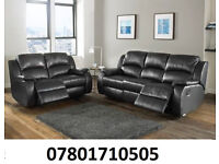 sofa lazy boy recliner sofa black real leather BRAND NEW 374