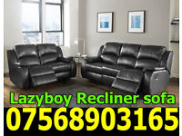 SOFA BRAND NEW RECLINER LEATHER SOFA FAST DELIVERY LAZYBOY 63