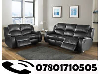 sofa lazy boy recliner sofa black real leather BRAND NEW 82
