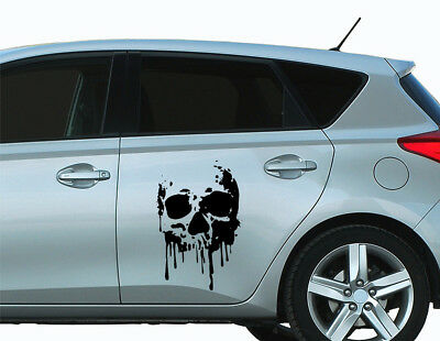 Blood Totenkopf Auto Folie Car Tattoo Skulls 20x30 cm bsm076 (Tattoos Skulls)