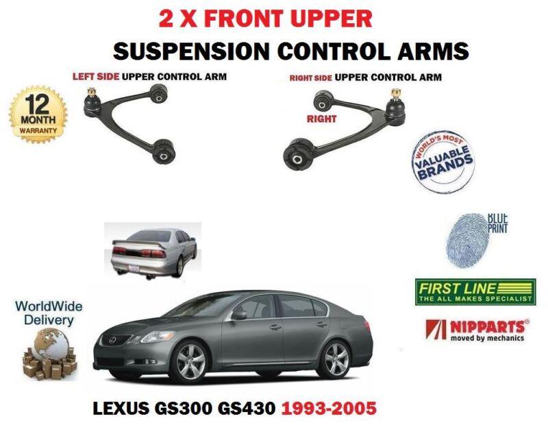 FOR LEXUS GS300 GS430 + ARISTO 1993-2005 LEFT + RIGHT FRONT UPPER SUSPENSION ARM