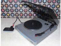 Mini Bluetooth Turntable - BUSH MTT1 Semi-Automatic Belt-Drive Mini Turntable.
