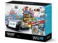 Wii U Premium 32gb Black with 2 games