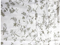 2 Ikea curtains, white with flower design