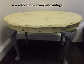 small hand decorated shabby chic vintage coffee table