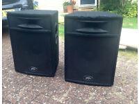 2x Peavey ST-15 Full Range Passive Speakers (350w)