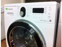 SAMSUNG Air Refresh - White + Chrome , 7/5KG WASHER DRYER + 3 Month Guarantee + FREE LOCAL DELIVERY