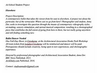 """Ballet Dancer Needed For Contemporary """"Elsewhere"""" Project, Paid, One Day"""