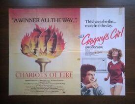 nine ' original ( double bill ) british quad cinema posters