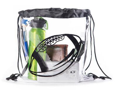 Mato & Hash® Clear Stadium Mini Cinch - Clear Cinch Bag