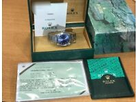 ROLEX AIR KING 34MM 14000M BLUE DIAL BOX/PAPERS (purchased 12/2002)