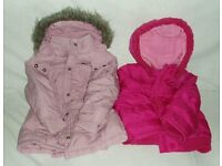 Children's clothes for Girls 3 – 4 years old. 1 Next and 1 Mothercare Anoraks.