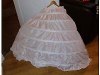 Wedding prom dress Underskirt big 6 hoop