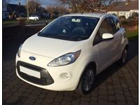 White Ford KA Zetec for Sale - Excellent Condition and Fuel Economy, Low Mileage, MOT and Service
