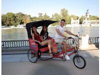 Pedicab driver/guide in Madrid, Spain