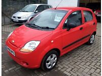 2009 Chevy Matiz 5 dr hatchback, man, £30 road tax LOW MILES 54k, 12 mths mot at just £1450 !!