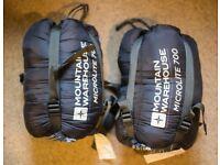 2x Adult Sleeping Bags, zip together, used twice, freshly washed