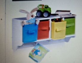 Kids wall storage unit