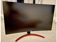 "Acer E Series ED273URPbidpx, Quad HD (1440p) Curved Monitor, 27"", Black"