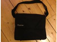 Oyster Black Changing Bag and Mat