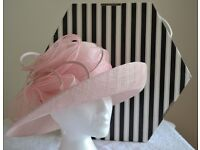 Occasion Hat Wedding/Races Pale Pink