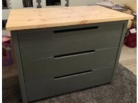 Upcycled 3 Drawer Chest of Drawers