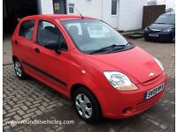 12 MONTHS MOT! LOW MILES! 2009 Chevrolet Matiz 5 dr hatchback, man, £30 road tax, 54,000 MILES!