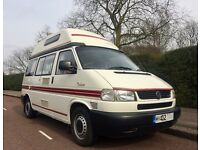 LOW EMISSION EXEMPT 2002 VW T4 AUTOSLEEPER TRIDENT AUTOMATIC, FULL SERVICE, NEW CAMBELT DISCS, PADS
