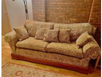 Quality Large Double Sofa with Storage Footstool