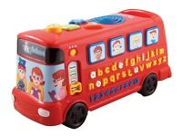VTech Red Playtime Bus (RRP £24.99)v clean & from non smoking pet free household -batteries included