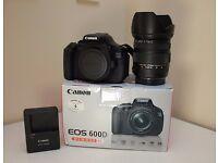 Canon EOS 600D 18.0MP Digital SLR Camera + Sigma 17-70mm f/2.8-4 HSM DC OS BOXED