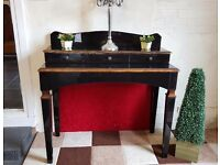 Barker and Stonehouse dressing table with drawers, heavy venetian mirrored glass