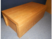 Small Storage Trunk, Coffer, Blanket Box, Toy Box - Coffee Table with Storage - Ikea Malm Oak