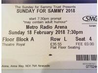 Sunday for Sammy ticket