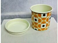 ORLA KIELY ENAMEL PLANT POT SMALL NEW BOXED
