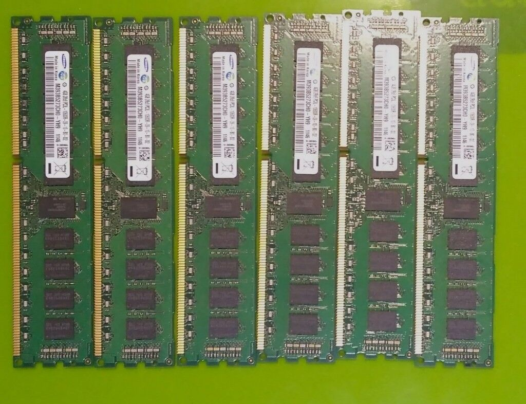 24GB 6x4GB 10600R PC3L server and workstation memory 2Rx8